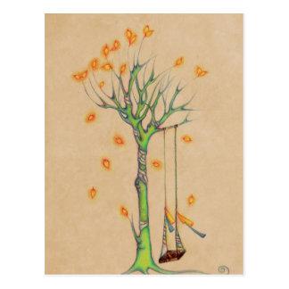 El árbol del fantasma y vacia el oscilación en la tarjeta postal