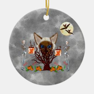 El árbol del gato adorno de navidad