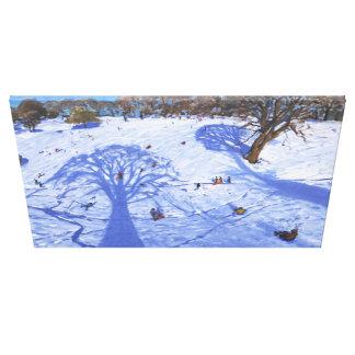 El árbol del invierno de Chatsworth sombrea 2013 Impresion De Lienzo