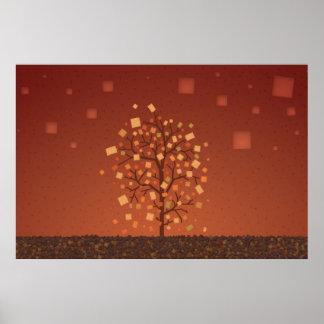 El árbol del otoño póster