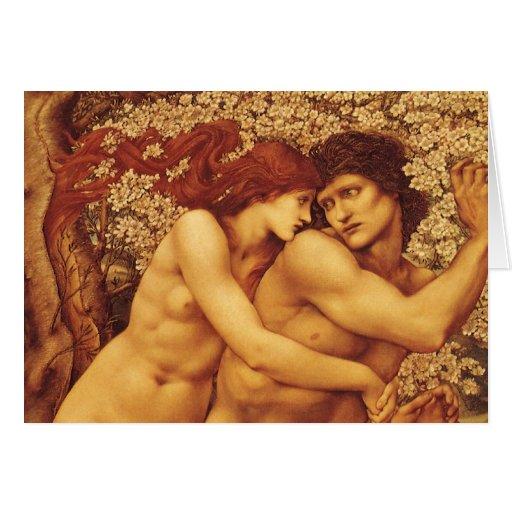 El árbol del perdón de Burne Jones Tarjeta De Felicitación