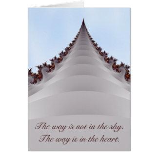 El árbol elevado camina en tarjeta de motivación d