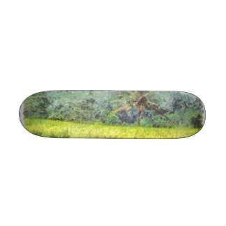 El árbol es la frontera entre la granja y el patin personalizado
