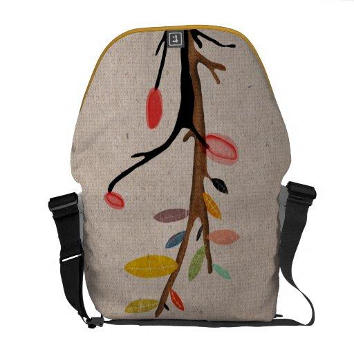 El árbol florece la bolsa de mensajero del carrito bolsas de mensajería