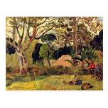 El árbol grande (Te Rahi Raau) por Gauguin Paul Tarjetas Postales