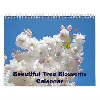 El árbol hermoso del calendario florece los calend