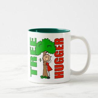 El árbol Hugger embroma el regalo Taza De Café