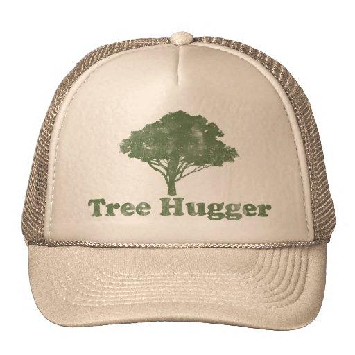 El árbol Hugger piensa verde Gorro