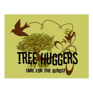 El árbol Huggers está para los pájaros Postales