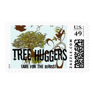 El árbol Huggers está para los pájaros Timbres Postales