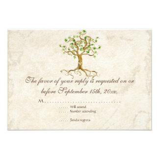 El árbol moderno del remolino arraiga el pergamino anuncios personalizados