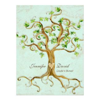 El árbol moderno del remolino arraiga el pergamino comunicados personales