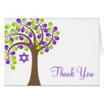 El árbol moderno del verde púrpura de la vida le a felicitación