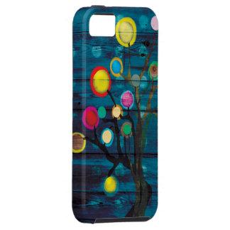 El árbol oscuro unido colorea feliz iPhone 5 carcasas