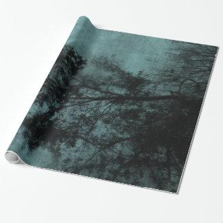 El árbol papel de regalo