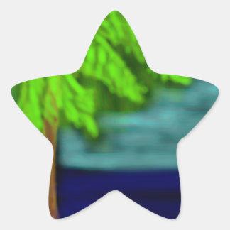 el árbol pegatina en forma de estrella