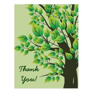 El árbol precioso de la primavera le agradece tarj postales