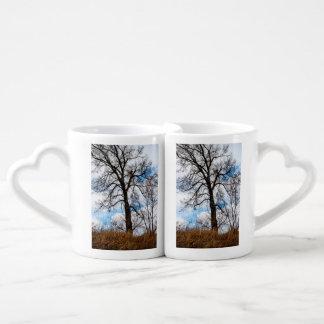 el árbol preocupado set de tazas de café
