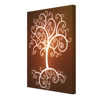El árbol que brilla intensamente impresiones en lona estiradas