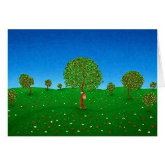 El árbol que viaja tarjeta de felicitación