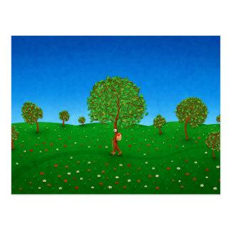 El árbol que viaja tarjetas postales