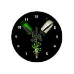 el árbol recicla la ecología gráfica design.png de relojes