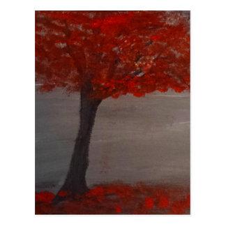 El árbol rojo postales