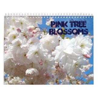 El árbol rosado florece fotografía del personaliza calendarios de pared