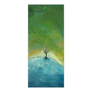 El árbol sale de la pintura de paisaje que estamos anuncio
