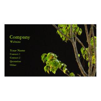 El árbol tarjeta de negocio