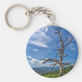 El árbol torcido llavero redondo tipo pin