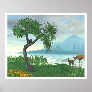 El árbol virginal póster