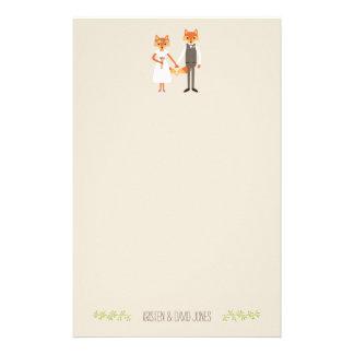 El arbolado caprichoso Foxes el boda personalizado Papelería De Diseño