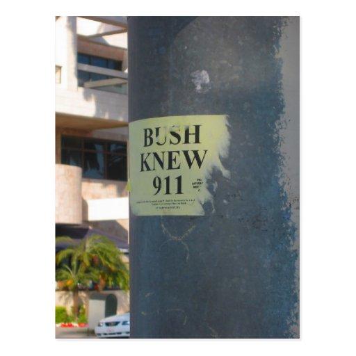 el arbusto sabía tarjeta postal