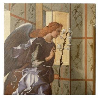 El arcángel Gabriel, del anuncio dipty Azulejo Cuadrado Grande