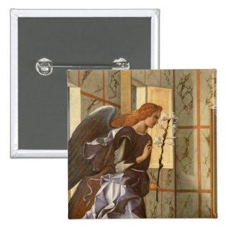 El arcángel Gabriel, del anuncio dipty Pin Cuadrada 5 Cm