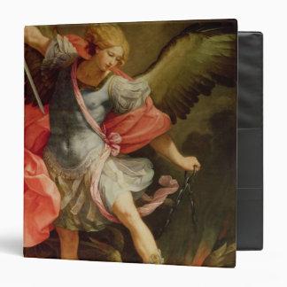 "El arcángel Michael que derrota Satan Carpeta 1 1/2"""