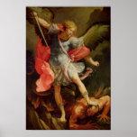 El arcángel Michael que derrota Satan Posters