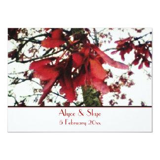 """El arce rojo cierra el boda botánico invitación 4.5"""" x 6.25"""""""