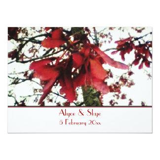 """El arce rojo cierra el boda botánico invitación 5.5"""" x 7.5"""""""