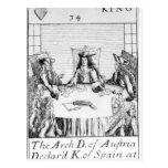 El archiduque de Austria declaró al rey de España Postal