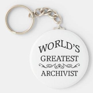 El archivista más grande del mundo llaveros personalizados