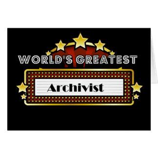 El archivista más grande del mundo tarjeta de felicitación