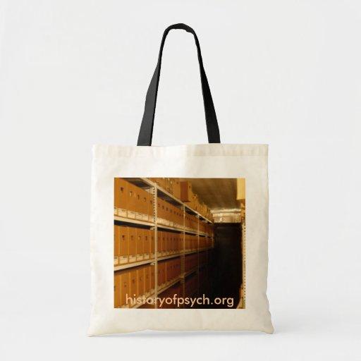 El archivo encajona el bolso bolsa lienzo