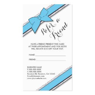 El arco azul claro vertical refiere tarjetas de un tarjetas de visita