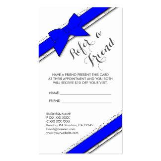 El arco azul vertical refiere tarjetas de un amigo tarjetas de visita
