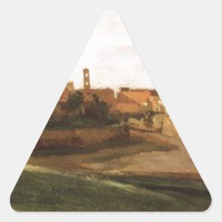 El arco de Constantina y del foro, Roma Pegatina Triangular