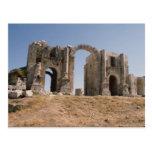 El arco de Hadrian, Jerash, Jordania Tarjeta Postal