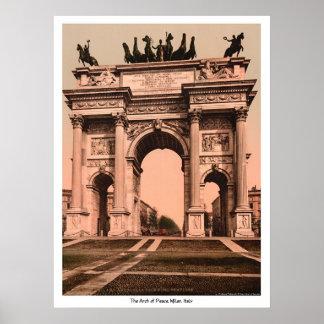 El arco de la paz, Milano, Italia Póster