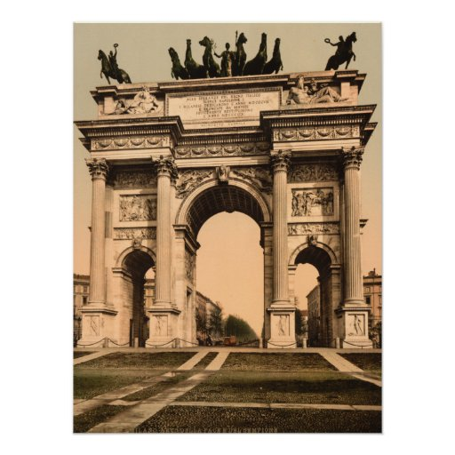 El arco de la paz, Milano, Lombardía, Italia Posters